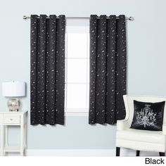 Aurora Home Star Struck Grommet Top 63-inch Thermal Insulated Blackout Curtain Panel Pair (