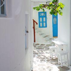 A  small quiet lane in Mykonos main town in Greece.. #mykonos #greece #travel #greek #street #mediterranian #town #quiet