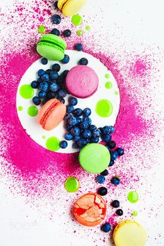 Art of desserts (with macaron and blueberry) by Dina (Food Photography) on 500px