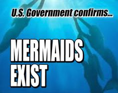 """★Mermaids Exist★ The National Oceanic and Atmospheric Administration (NOAA) reportedly confirmed that mermaids exist and that they are growing in numbers. The National Oceanic and Atmospheric Administration reportedly published a post on their """"Ocean Facts"""" news feed titled """"Conclusive Evidence of the Existence of Aquatic Humanoids.""""♥"""