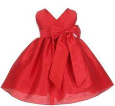 Amazon.com: Sweet Kids Baby-Girls New Criss Cross Bow Flower Girl Dress: Clothing