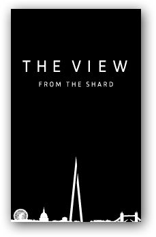 The View from The Shard.  London's tallest viewing platform - open February 2012