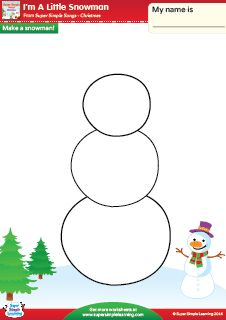 math worksheet : i m a little snowman quot; vocabulary coloring worksheet from super  : Snowman Worksheets Kindergarten
