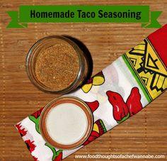 FoodThoughtsOfaChefWannabe: Homemade Taco Seasoning