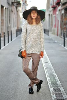 i love this outfit, sleek and comfortable with a boyish edge
