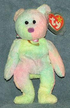 TY Beanie Baby Groovy the #Bear 1999.    Groovy the Bear is in mint condition and has 5th generation swing tag which is in mint condition and is in a protector case. His hologram tush tag is 8th generation and is in fair to excellent condition. Groovy the Bear will be shipped in a zip lock plastic bag and a tracking number will be provided via your email address.  Price is 15.95 #beanie #babies