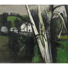 Robert Henderson Blyth RSA RSW (Glasgow 1919 - 1970). Early Spring , 1959, oil on canvas, Aberdeen Art Gallery & Museums Collections.
