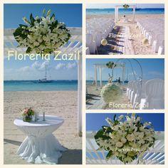 Flowers for weddings in Cancun & Riviera Maya. www.floreriazazil.com Contact: ventas@floreriazazil.com