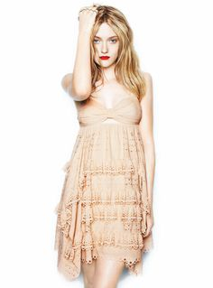 Dakota Fanning. Poor Dakota great actress but just has strange eyes that stop her being beautiful she must be jealous of her sisters looks must be different Fathers