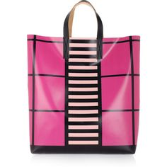 Marni Printed vinyl and leather tote ($203) ❤ liked on Polyvore