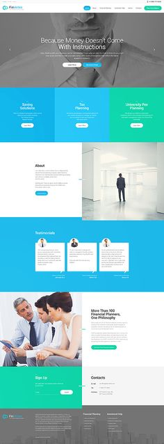 Template 57758 - Fin Vertex  Responsive WordPress  Theme
