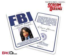 Special Agent 'Scream Queens' Cosplay ID Badge - Denise Hemphill