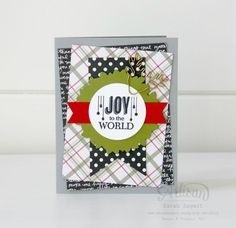 Create some masculine cards using the Jolly Christmas Stamp Set and Merry Moments DSP ~ Sarah Sagert