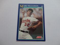 Mark Williamson 1991 Score Baseball Card.