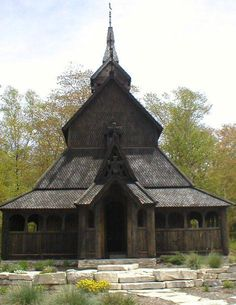 "The Stavkirke (""Church of Staves""), on Washington Island, Wisconcin, is modeled on an original Scandinavian design, and was hand-built by ""islanders"". Services are often held there throughout the year, and it is a popular site for weddings. http://www.wistravel.com/cities_in_wisconsin/washington_island_wisconsin/"