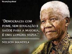 DEMOCRACIA COM FOME, SEM EDUCACAO E SAUDE PARA A MAIORIA, E UMA CONCHA VAZIA.