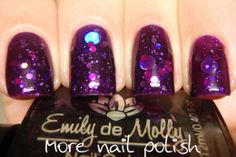 I wouldn't personally wear this as I don't like glitter polishes, but I think it looks cool; like underwater bubbles. Emily de Molly: Cosmic Forces