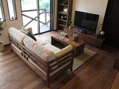 Home Living Room, Living Room Decor, Home Design Floor Plans, Hall Design, Asian Design, Outdoor Furniture Sets, New Homes, Indoor, House Design