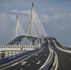 """Today, 24 september 2015, has been inaugurated the """"Bridge of the Constitution of 1820"""". It is the second highest bridge in the world over maritime waters. Bay of Cadiz, Spain"""