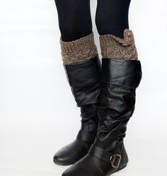 Crochet Boot Cuffs Womens Leg Warmers Boot Socks in by KnitsbyVara, $24.00