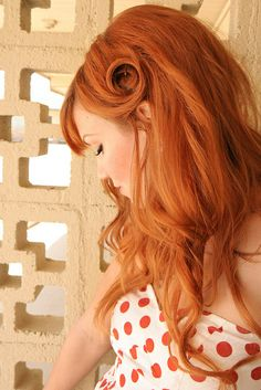 Cute side pin curl