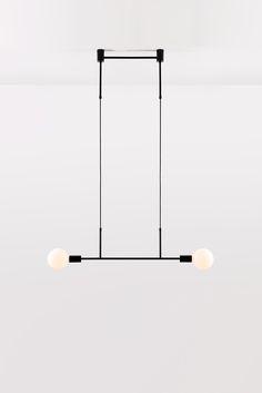 Jewellery meets industry at Volker Haug- minimal design lamp