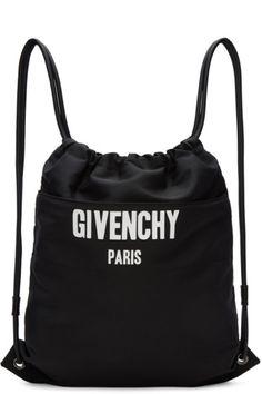 ba16f04ddd Givenchy - Black Logo Drawstring Backpack Ruksaky