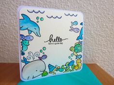 Lawn Fawn Critters in the sea stamping