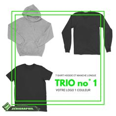 TRIO #1 pour 12 vêtements Creation T Shirt, Raglan, Adidas Jacket, Athletic, Crop Tops, Jackets, Women, Fashion, Long Dress Patterns