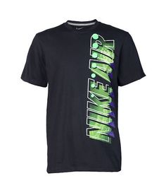 NIKE+Logo+graphic+tee+NIKE+logo+bubble+lettering+across+front+Crew+neck+style+Ribbed+collar+Short+sleeve+design