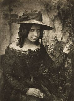 Girl in Straw Hat	 HILL AND ADAMSON, b.1802-1870 and 1821-1848 Camera Work Proof, 1912 21.5 x 15.8 cm Photogravure