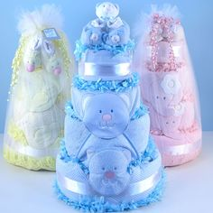 *Please allow business days for processing. VIEW SHIPPING RATES/ MAP FOR THIS ITEM These impressive 32 inch 4 tier diaper cakes make the perfect baby shower centerpiece or a unique baby shower gif Baby Cakes, Baby Shower Cakes, Baby Shower Diapers, Baby Shower Parties, Baby Shower Themes, Baby Shower Mexicano, Unique Diaper Cakes, Rosalie, Shower Bebe