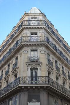 Haussmann style building - Paris, France Parisian social rule says : the higher the lower. Photo personnelle