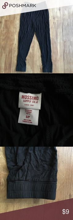 Flowy Black Pants Mission Supply Co. black flowy pants. 96% rayon, 4% spandex. Spandex cuffed ankles. Extremely comfortable and great for summer nights or over bathing suits! Selling because I've only worn them once Mossimo Supply Co. Pants Track Pants & Joggers