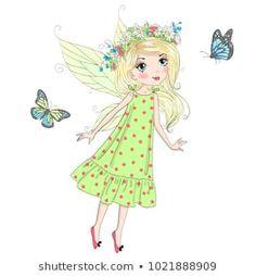 Vector de stock (libre de regalías) sobre Two Hand Drawn Beautiful Cute Little1022899375 Little Girl Drawing, Listening To Music, Pop Art, Little Girls, How To Draw Hands, Fairy, Princess Zelda, Stock Photos, Beautiful