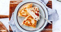 "Naleśniki ""ruskie"" | Ania Starmach Polish Recipes, Pizza, Quiche, Bread, Cheese, Dinner, Ethnic Recipes, Pierogi, Food"