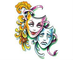 Image result for theatre masks comedy tragedy tattoo