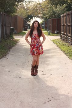 cowboy boots and sundress