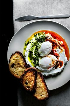 Eggs Çilbir - Poached eggs on yogurt sauce