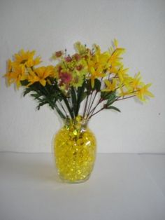 $2.99 Amazon.com: *(Promotion - Buy 3 Get 1 Free) 14 Gram Package - Deco Water Beads - Colorful Vase Filler & Centerpiece, Wedding Favors & Unlimited Uses & Create Your Own Candle Holders (Lemon Drop): Home & Kitchen