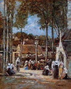 Local Pilgrimmage at Landerneau - Eugene Boudin