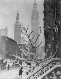 "yesterdaysprint: ""Snowy New York, 1914 """