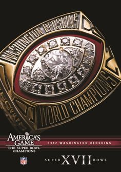 Shop NFL: America's Game 1982 Washington Redskins Super Bowl XVII [DVD] at Best Buy. Find low everyday prices and buy online for delivery or in-store pick-up. Nfl Championship Rings, Nfl Championships, All Nfl Teams, Week Schedule, Redskins Fans, Super Bowl Rings, Nfl Season, Burgundy And Gold, Washington Redskins