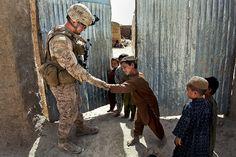 Friendly Five (U.S. Marine Corps photo by Lance Cpl. Jason Morrison)