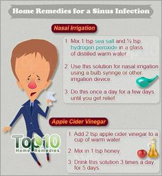 home remedies for a sinus infection