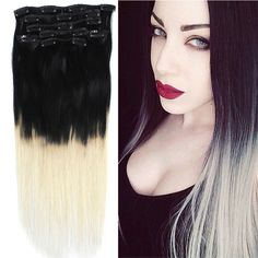 OMBRE BLACK TO WHITE BLONDE