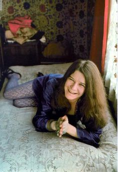 Janis Joplin - Dress with lacy colored tights and sandals.  Maybe I should try this...