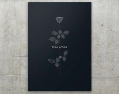 Depeche Mode Violator Minimalist Interpretation por FlatMates, $22.00