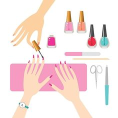 Manicure vector art illustration