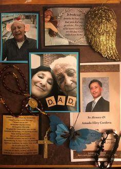 Memory Box/Shadow Box for Mom Dad Grandma Grandpa Friend Shadow Box Memory, Diy Shadow Box, Shadow Box Frames, Funeral Memorial, Memorial Gifts, Memorial Ideas, Remembering Dad, Memory Crafts, Wall Hanging Crafts